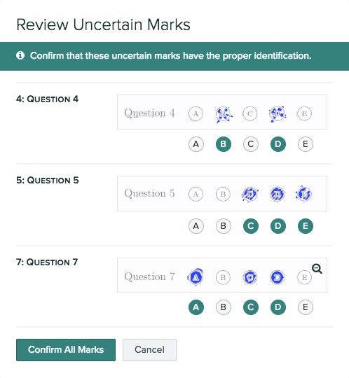 How to review all uncertain marks